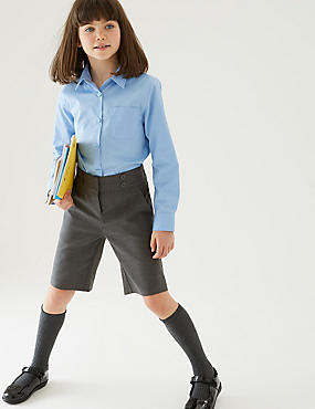 Girls' Shorts, GREY, catlanding