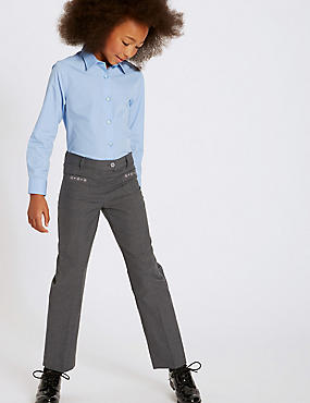 Junior Girls' Embroidered Trousers