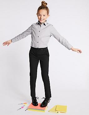 Girls' Skinny Leg Trousers, BLACK, catlanding
