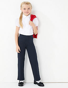 Girls' Regular Leg knitted Trousers, DARK NAVY, catlanding
