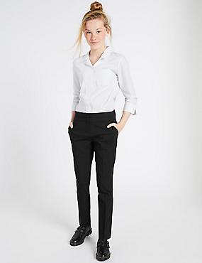 Senior Girls' Skinny Leg Trousers, BLACK, catlanding