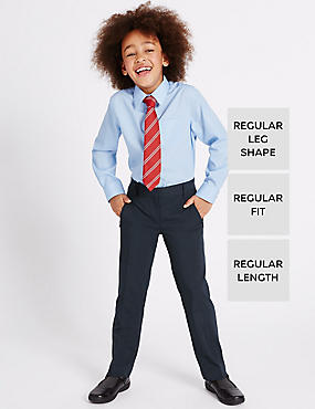Girls' Slim Leg Crease Resistant Trousers