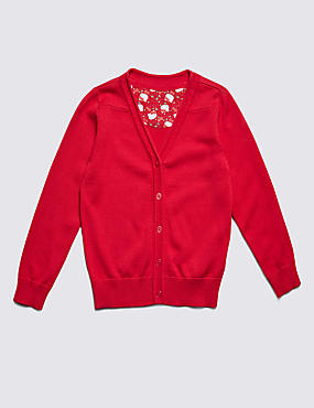 Hello Kitty Girls' Pure Cotton Cardigan with StayNEW™