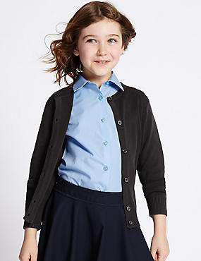 Girls' Cotton Rich Cardigan