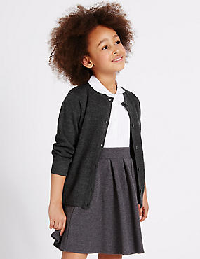 Girls' Wool Blend Button Through Cardigan