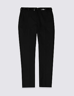 Girls' Plus Fit Skinny Leg Trousers, BLACK, catlanding