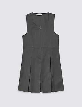 Girls' Traditional Pinafore with Permanent Pleats with Triple Action Stormwear™