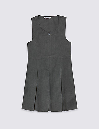 Girls' Permanent Pleated Pinafore Clothing