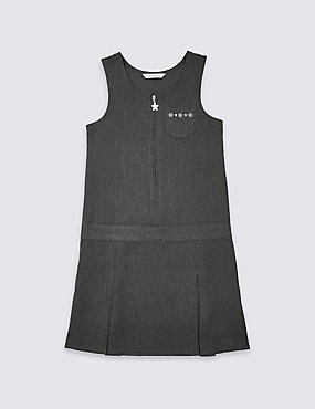 Girls' Embroidered Pinafore with Triple Action Stormwear™