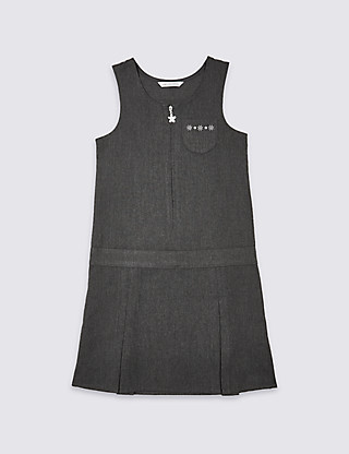 Girls' Embroidered Pinafore Clothing