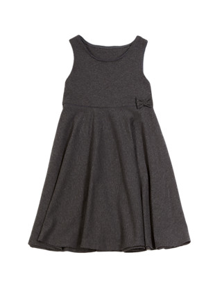 Girls' Cotton Rich Knitted Pinafore with Bow Clothing