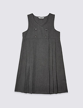 Girls' Pinafore with Crease Resistant