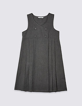 Girls' Double Breasted Crease-Resistant Pinafore with Triple Action Stormwear™