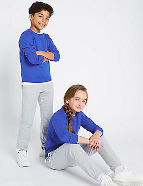 Ribbed Sweatshirt (3-16 Years), BLUE, catlanding