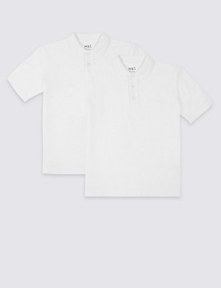 2 Pack Unisex Pure Cotton Skin Kind™ Polo Shirts Clothing