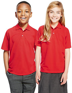 2 Pack Unisex Pure Cotton Polo Shirts