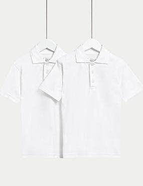 2 Pack Unisex Skin Kind™ Polo Shirts, WHITE, catlanding