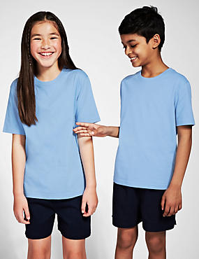 2 Pack Unisex Pure Cotton T-Shirts with StayNEW™