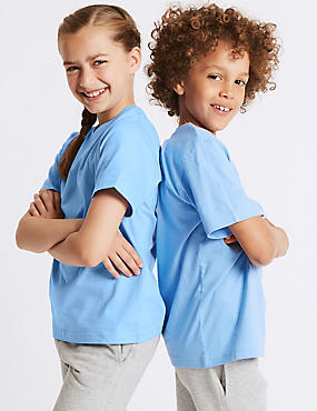 2 Pack Unisex Pure Cotton T-Shirts