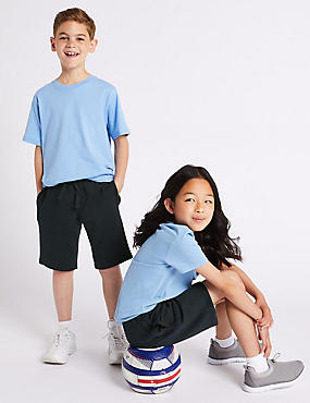 2 Pack Boys Cotton Rich Shorts, DARK NAVY, catlanding