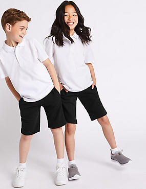 2 Pack Unisex Cotton Rich Sweat Shorts