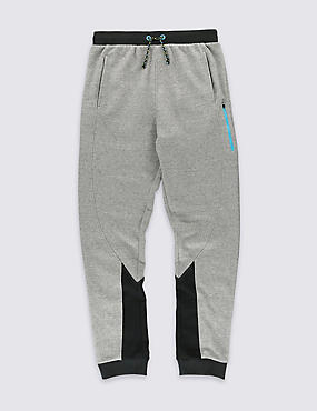 Boys' Sports Panelled Joggers (5-16 Years)
