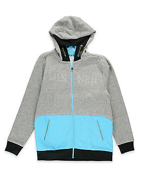 Cotton Blend Hooded Sweatshirt (5-16 Years)