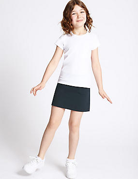 Girls' Cotton Sports Skorts with Stretch