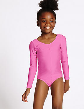 Girls' Gymnastics Long Sleeve Leotard