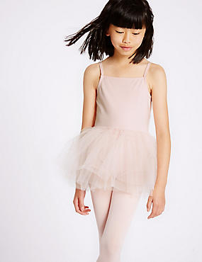 Girls' Cotton Rich Ballet Leotard