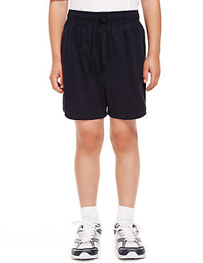 2 Pack Boys' Pure Cotton PE Shorts with Active Sport™