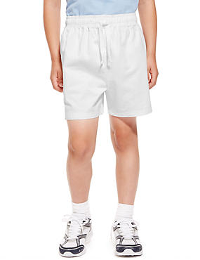 2 Pack Boys' Pure Cotton PE Shorts