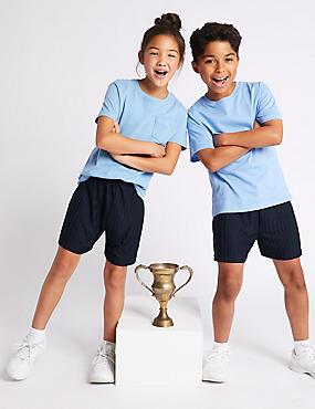 Boys' Sports Shorts, DARK NAVY, catlanding