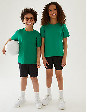 Boys' Sports Shorts, BLACK, catlanding