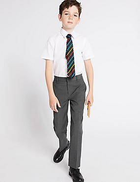 2 Pack Boys' Regular Leg Trousers