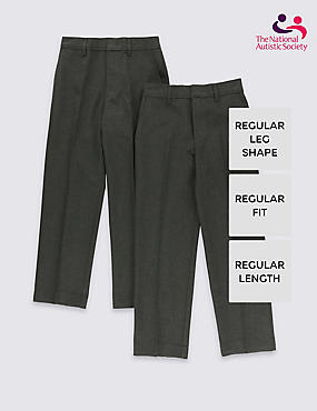 2 Pack Boys' Easy Dressing Trousers