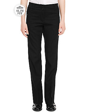 Slim Fit Girls' Zip Pocket Trousers with Stormwear+™ (2-16 years)