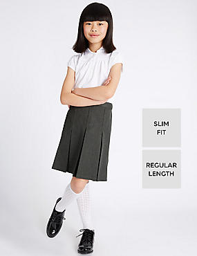 Girls Slim Fit Traditional Skirt with Triple Action Stormwear™ & Permanent Pleats
