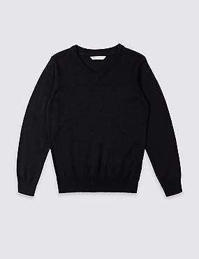 Unisex Pure Cotton Jumper, NAVY, catlanding