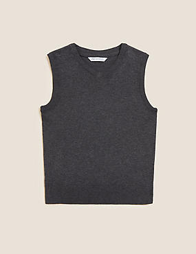 Boys' Cotton Rich Tank Top with StayNEW™