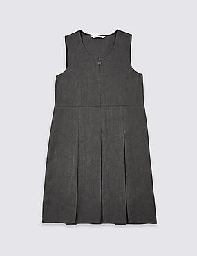 Girls' Longer Length Crease Resistant Traditional Pinafore with Permanent Pleats & Stormwear™