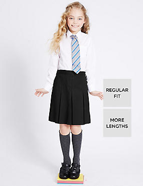 Girls' Permanent Pleat Traditional Skirt with Stormwear+™ in Longer Lengths