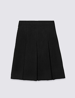 Girls' Permanent Pleat Traditional Skirt with Stormwear+™ in Longer Lengths Clothing