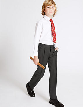 Boys' Wool Blend Trousers with Supercrease™
