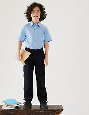 Boys' Regular Leg Trousers, NAVY, catlanding