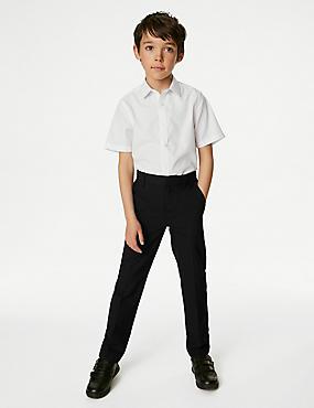 Boys' Regular Leg Trousers, BLACK, catlanding