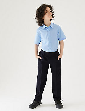 Boys' Additional Lengths Regular Leg Trousers, NAVY, catlanding