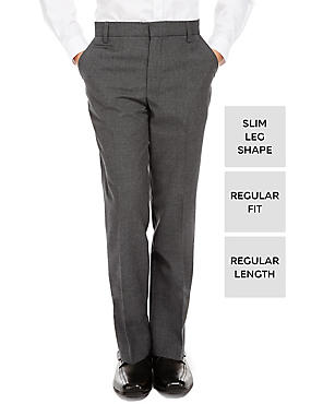 Boys' Slim Leg Trousers with Supercrease™