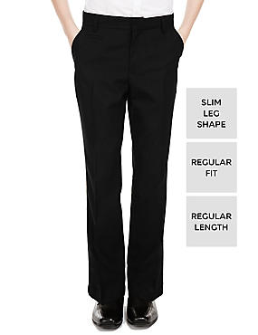 Supercrease™ Boys' Slim Leg Trousers with Triple Action Stormwear™