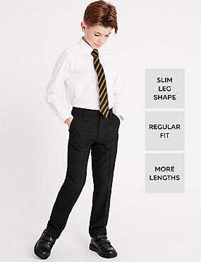 Boys' Slim Leg Trousers with Length Options